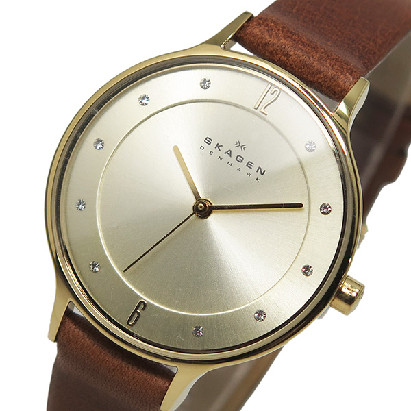 (~8/31) スカーゲン SKAGEN スカーゲン クオーツ 腕時計 SKW2147 シャンパンゴールド SKAGEN クオーツ レディース, 斜里郡:17bb0e86 --- officewill.xsrv.jp