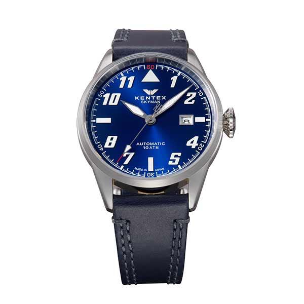 【スーパーSALE】(~9/11 01:59)(?9/30) ケンテックス KENTEX 腕時計 S688X-17 スカイマンパイロットアルファ SKYMAN PILOT ALPHA 自動巻き ブルー ネイビー 国内正規品 ユニセックス