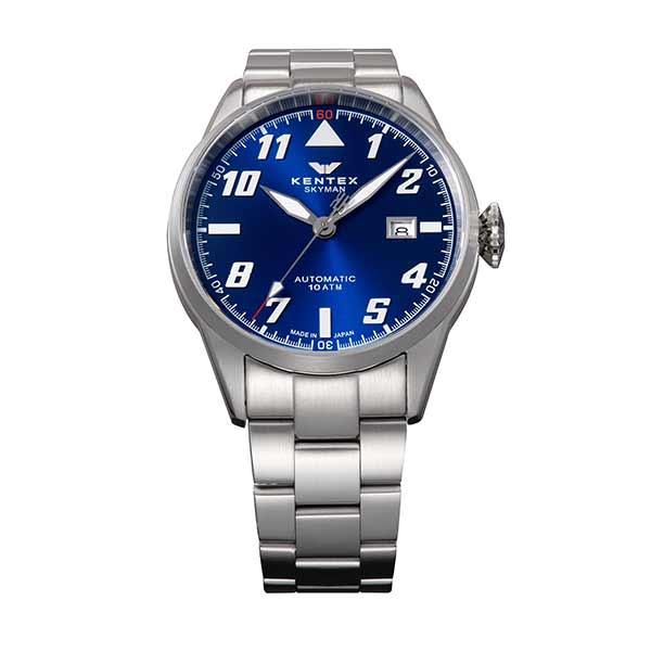【スーパーSALE】(~9/11 01:59)(?9/30) ケンテックス KENTEX 腕時計 S688X-22 スカイマンパイロットアルファ SKYMAN PILOT ALPHA 自動巻き ブルー シルバー 国内正規品 メンズ