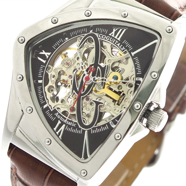 (~4/30)【キャッシュレス5%】コグ COGU 腕時計 BNTS-BK 自動巻き ブラック ブラウン メンズ
