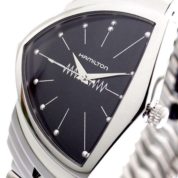 (~8/31) ハミルトン HAMILTON 腕時計 H24411232 腕時計 ベンチュラ VENTURA VENTURA ハミルトン 蛇腹ベルト クォーツ ブラック シルバー メンズ【代引き不可】, タキザワムラ:4f33035b --- officewill.xsrv.jp