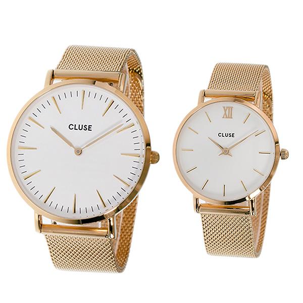 (~8/31) クォーツ クルース CLUSE 腕時計 PAIR-CL18112-30013 (~8/31) クォーツ ホワイト ホワイト ローズゴールド レディース ペアウォッチ, HealthBox:5e99039e --- officewill.xsrv.jp
