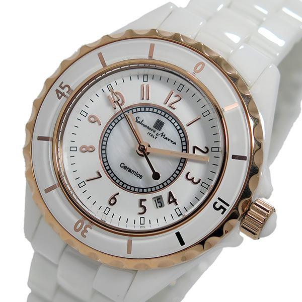 (~8 ホワイト/ローズ/31) サルバトーレマーラ (~8/31) SALVATORE レディース MARRA クオーツ 腕時計 SM15151-PGWHA ホワイト/ローズ レディース, 送料無料:bbdf92f8 --- officewill.xsrv.jp