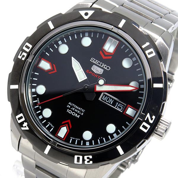 (~8 ブラック セイコー/31) メンズ セイコー SEIKO 自動巻き 腕時計 SRP673J1 ブラック メンズ, 旅行用品のホリデイホリデイ:2f058f0e --- officewill.xsrv.jp