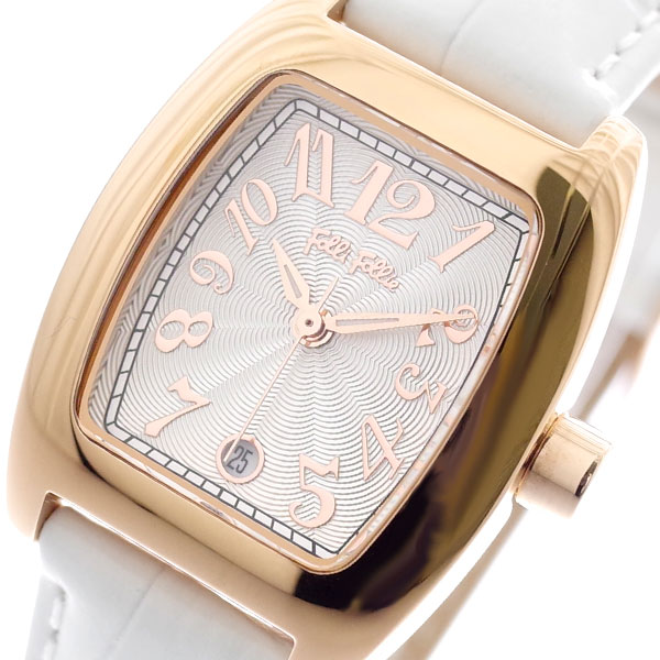 (~4/30)【キャッシュレス5%】フォリフォリ FOLLI FOLLIE 腕時計 WF5R080SDS-WH S922 クォーツ ホワイト レディース