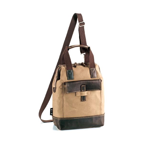 鞄の國 帆布シリーズ リュック バックパック 33675 ベージュ 国内正規 メンズ 【ラッピング不可】