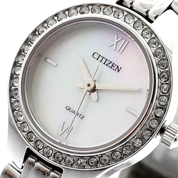 (~8/31) シチズン CITIZEN 腕時計 EJ6140-57D クォーツ ホワイトシェル シルバー レディース