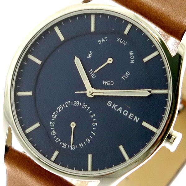 【スーパーSALE】(~9/11 01:59)(~9/30)スカーゲン SKAGEN 腕時計 SKW6449 クォーツ ネイビー ブラウン ユニセックス
