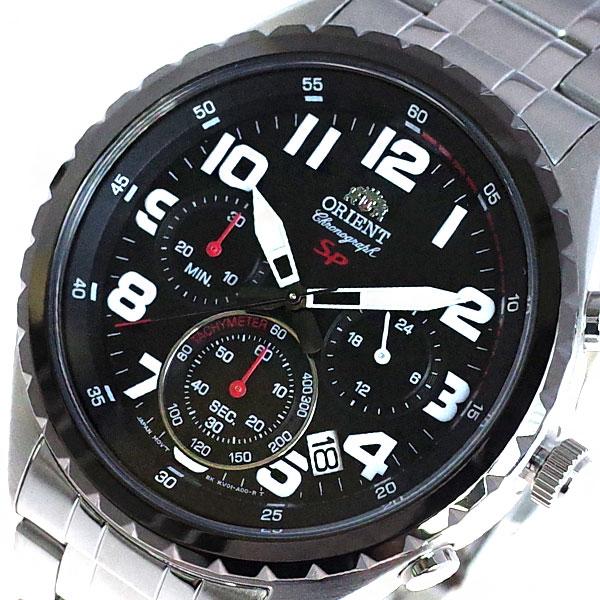 (~8/31) オリエント ORIENT ブラック 腕時計 FKV01001B0 ORIENT クォーツ ブラック シルバー オリエント メンズ, 鳴門市:a9351ca7 --- officewill.xsrv.jp
