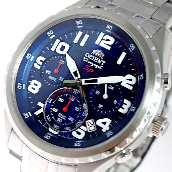 (~8 腕時計/31) オリエント ORIENT 腕時計 FKV01002D0 クォーツ ブルー ORIENT クォーツ シルバー メンズ, ラララカフェ:e37405cd --- officewill.xsrv.jp