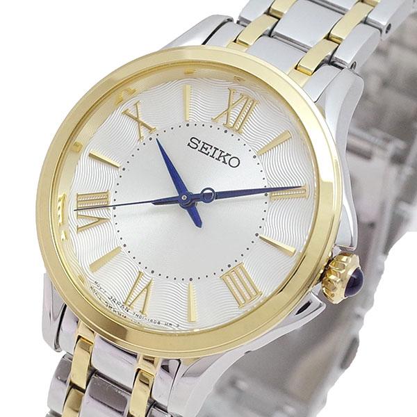 (~4/30)【キャッシュレス5%】セイコー SEIKO 腕時計 SRZ526P1 クォーツ パールホワイト シルバー レディース