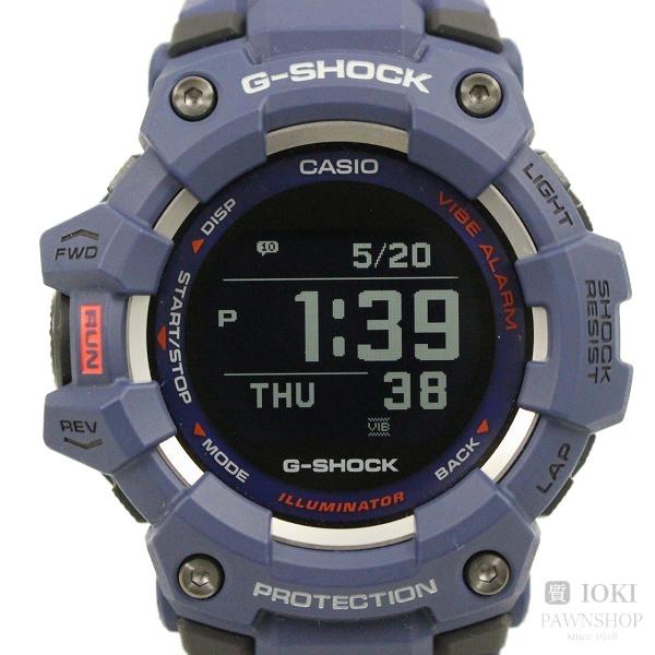 送料無料 中古 カシオ メーカー公式ショップ G-SHOCK G-SQUAD Bluetooth搭載 ネイビー スマートフォンリンクモデル 腕時計 いおき質店 発売モデル GBD-100-2JF