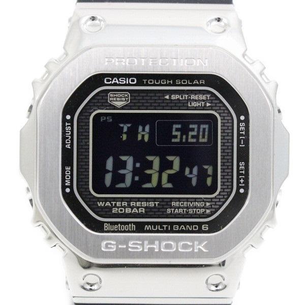 送料無料 中古 美品 カシオ G-SHOCK フルメタルケース Bluetooth搭載 管理2 腕時計 トラスト 低価格 GMW-B5000-1JF いおき質店 純正樹脂バンド ソーラー電波
