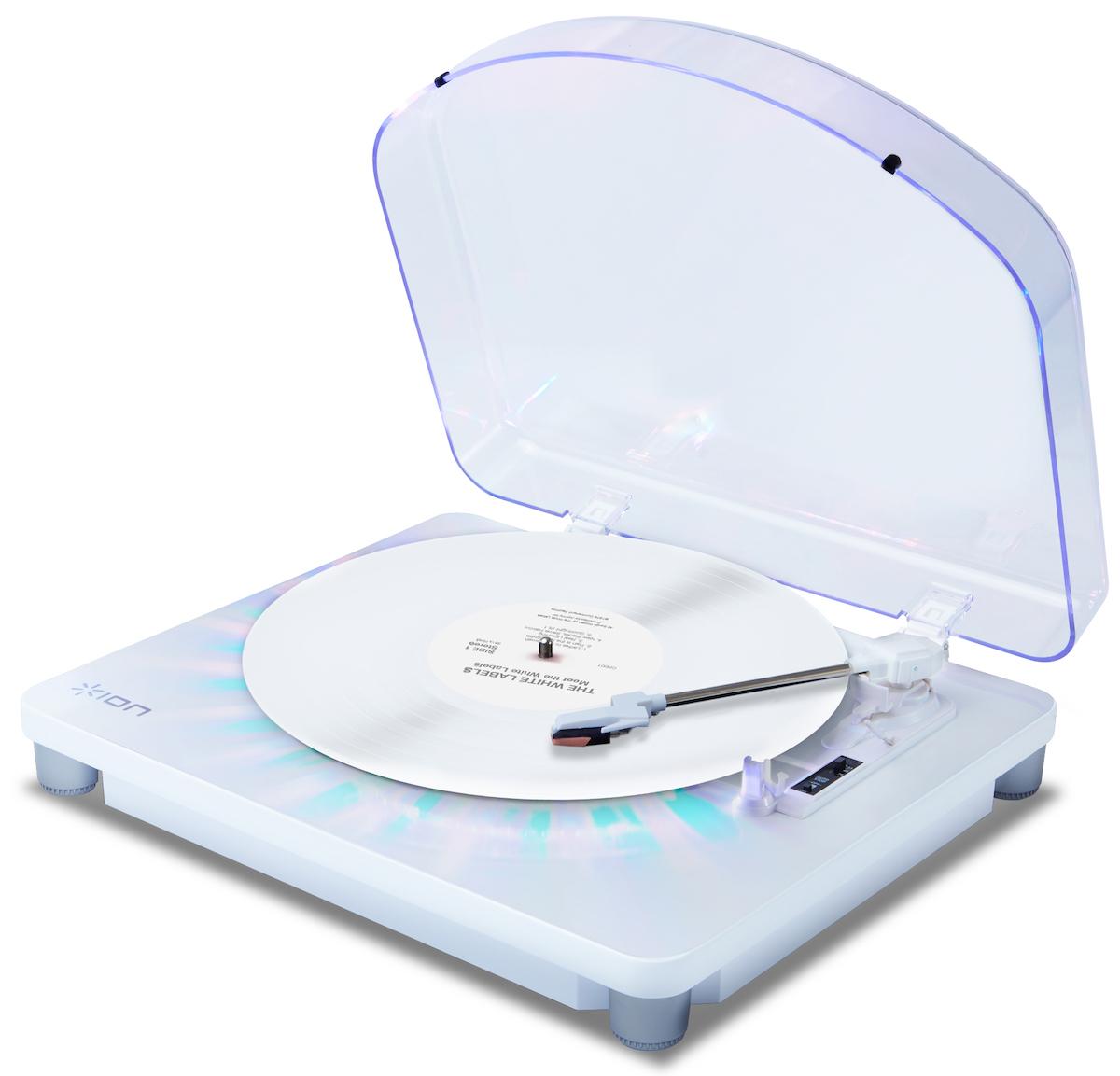 【公式 / 送料無料】ION Audio LEDライト付きレコードプレーヤー 音源デジタル化 Photon LP