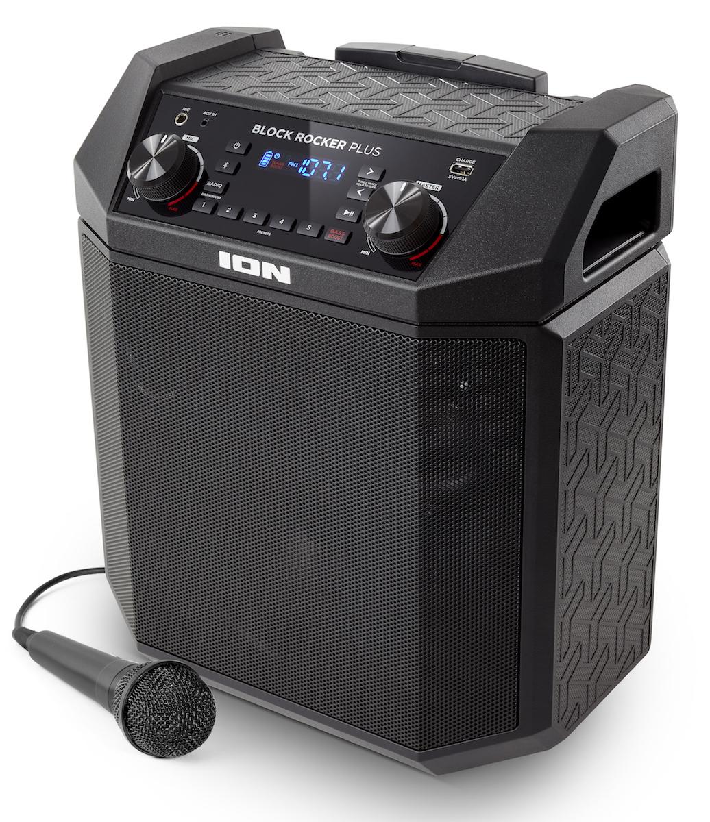 【公式 / 送料無料】ION Audio Bluetooth対応 ポータブルPAスピーカー 低音 ブースト 機能搭載 50時間バッテリー 100W マイク 付き Block Rocker Plus