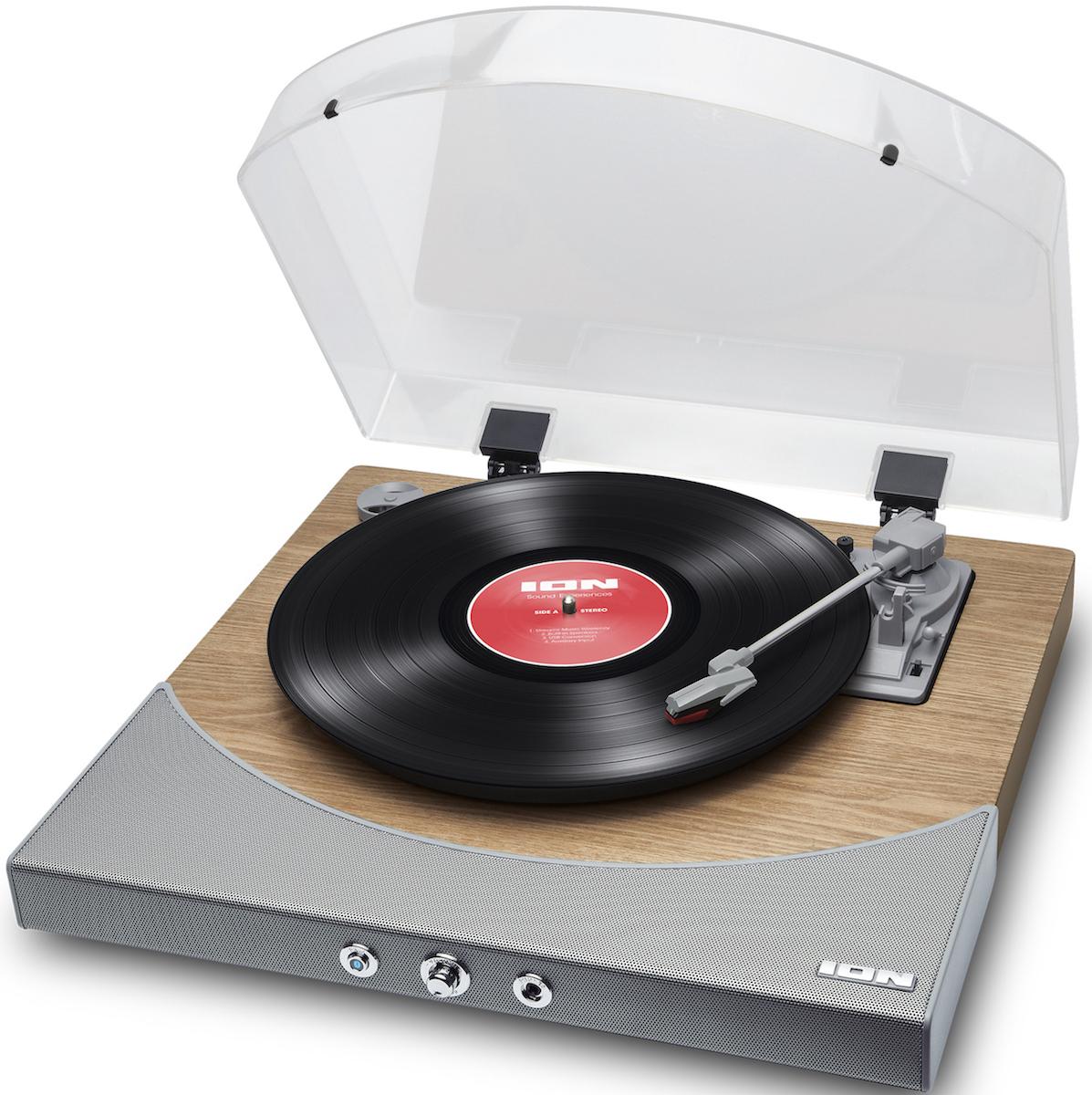 【公式 / 送料無料】ION Audioワイヤレス Bluetooth レコードプレーヤー 【スピーカー内蔵/RCA出力端子/ヘッドフォン端子/USB端子/外部入力端子/オートリターン機能】天然木仕上げ Premier LP Natural