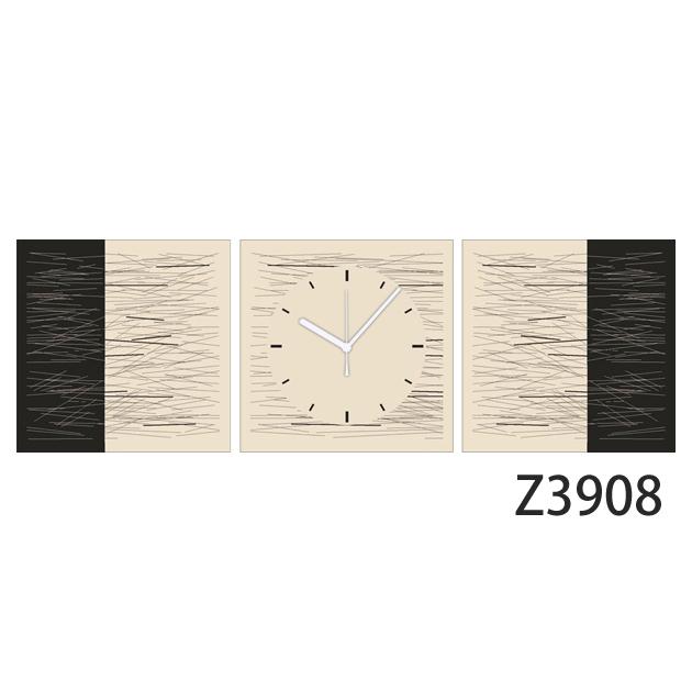 壁掛け時計 日本初!300種類以上のデザインから選ぶパネルクロック◆3枚のアートパネルの壁掛け時計◆hOur Design Z3908【イラスト】【代引不可】【送料無料】