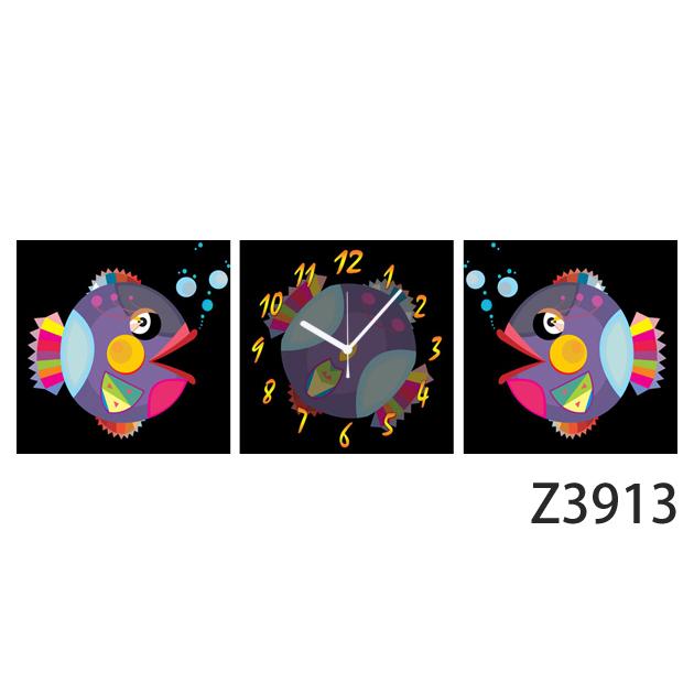 壁掛け時計 日本初!300種類以上のデザインから選ぶパネルクロック◆3枚のアートパネルの壁掛け時計◆hOur Design Z3913【イラスト】【アート】【代引不可】【送料無料】