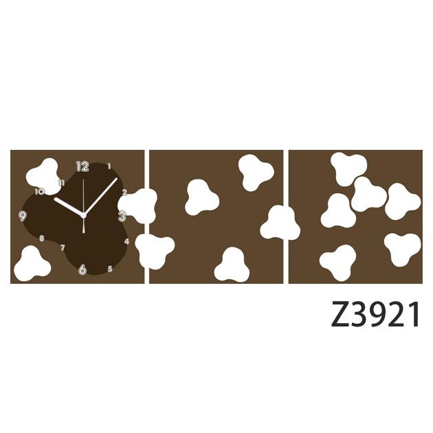 壁掛け時計 日本初!300種類以上のデザインから選ぶパネルクロック◆3枚のアートパネルの壁掛け時計◆hOur Design Z3921【イラスト】【代引不可】【送料無料】
