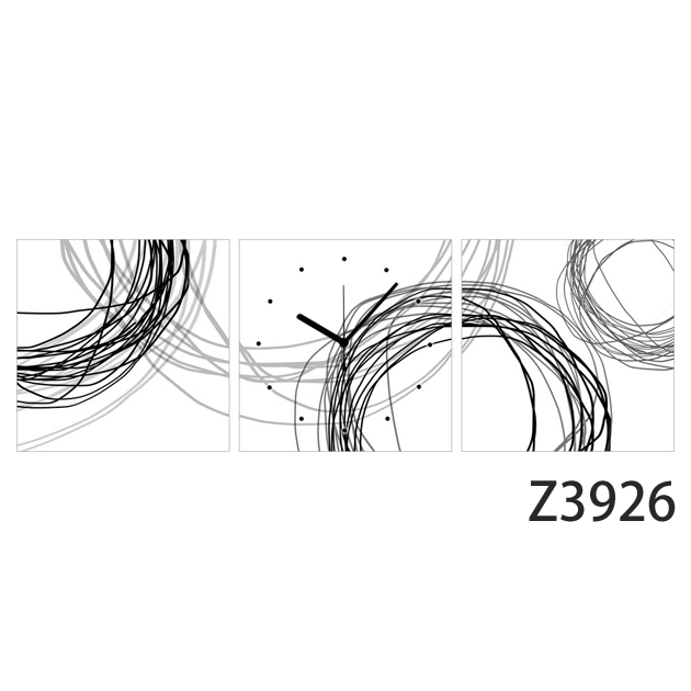 壁掛け時計 日本初!300種類以上のデザインから選ぶパネルクロック◆3枚のアートパネルの壁掛け時計◆hOur Design Z3926【イラスト】【代引不可】【送料無料】