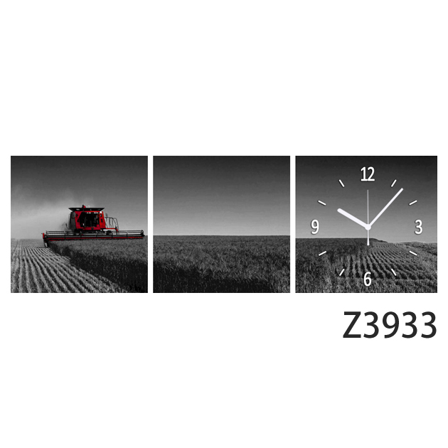 壁掛け時計 日本初!300種類以上のデザインから選ぶパネルクロック◆3枚のアートパネルの壁掛け時計◆hOur Design Z3933【風景】【代引不可】【送料無料】