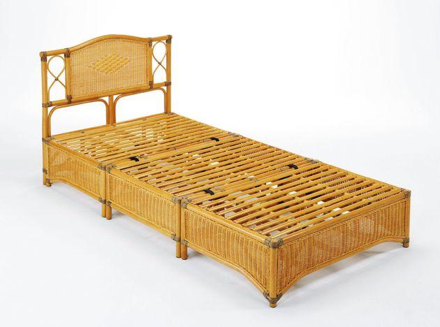 艶やかで涼しい天然藤の素材感。 藤ベッド・シングルサイズ イス・チェア 座椅子 籐製 送料無料