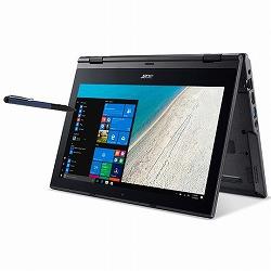 TMB118G2RN-F14QL6 (Celeron N4100/4GB/128GB SSD/11.6/Windows 10 Pro 64bit/Windows Ink/コンバーチブル/モバイル/1年保証/マットブラック/Office Personal 2016) Acer TMB118G2RN-F14QL6