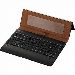 Bluetoothキーボード/ケース一体型/無段階角度調整/マルチペアリング対応/バックライト/ヴィーガンレザー/汎用/ブラック エレコム TK-CAP03BK