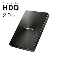 【送料無料】アイ・オー・データ機器 アイオーデータ IODATA HDPX-UTC2K USB 3.1 Gen1 Type-C ポータブルハードディスク アルミボディ HDD 2TB ブラック