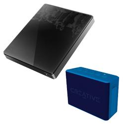 音楽好きな大人のための特別デザインモデル「大人のCDレコ」CDRI-W24AI2/Pと「ワイヤレススピーカー Creative MUVO 2C ブルー」SP-MV2C-BUセット