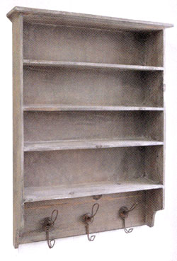 送料無料 ウッドウォールラック  EZ-54ナチュラル アンティーク インテリア 家具 小物収納 飾り棚 おしゃれ