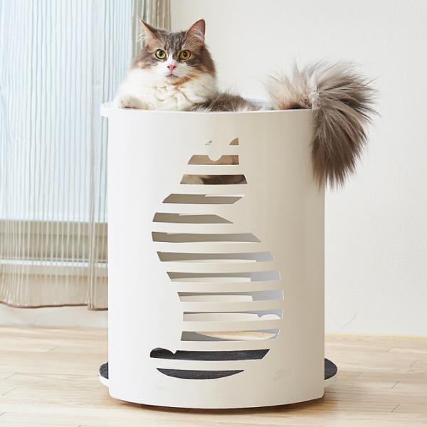 キャットクリアカプセル シリンダー [猫 ネコ ねこ ベッド キャットツリー 据え置き]