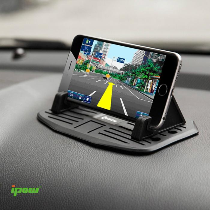 【楽天市場】【改良型】【送料無料】ipow 車載ホルダー シリコン 滑り止め スマートフォンホルダー 卓上 スマホ