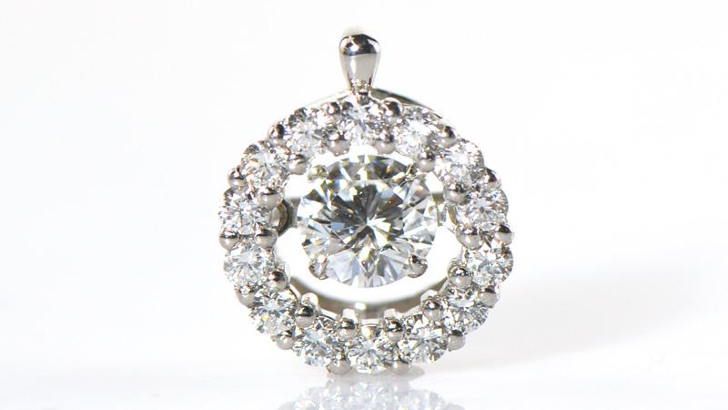 【ソーティングメモ付き】ダンシング ダイヤモンド プラチナ900 ペンダント YK-AH091-1802YKAM