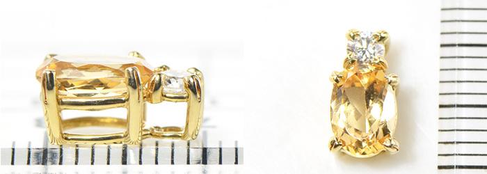 インペリアルトパーズ×ダイヤモンドK18イエローゴールド ペンダントトップルーチェ BO006CI YK AT029 YP 02fgYb67y