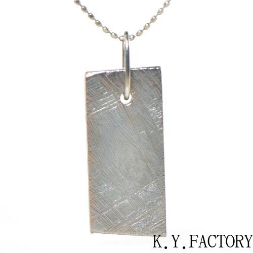 ギベオン 隕石 メテオライト ペンダント トップ K18ホワイトゴールド YK-AZ084 K18 WG ネックレス ヘッド ペントップ レディース メンズ  ゴールド 一粒 シンプル ギフト プレゼント