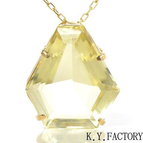 レモンクォーツ ペンダント トップ  K18イエローゴールドYK-BF005CI28 ヘッド ペントップ K18YG 18金 レディース ネックレス ゴールド 一粒 シンプル