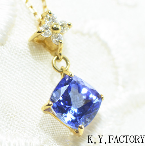 タンザナイト×ダイヤモンド ペンダント トップK18イエローゴールド YK-AR070YKAMC ネックレス ヘッド ペントップ K18YG 12月誕生石