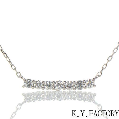 ダイヤモンド ペンダント プラチナ900 ライン YK-AY079 (SP4055) ネックレス Pt レディース ゴールド