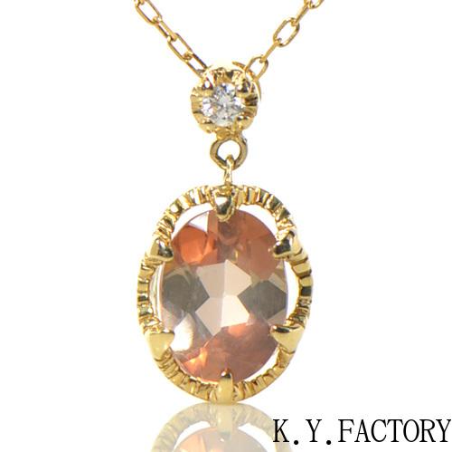アンダリューサイト ダイヤモンド ペンダント トップ K18イエローゴールド クラウディア YK-BD083CI (YP-066)ヘッド ペントップ ネックレス K18YG 18金