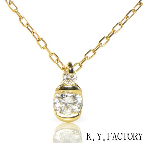 ダイヤモンド ペンダント トップ K18イエローゴールドドゥ YK-BE083 (YP-105)ヘッド ペントップ K18YG 1月誕生石 レディース ギフト ゴールド ネックレス