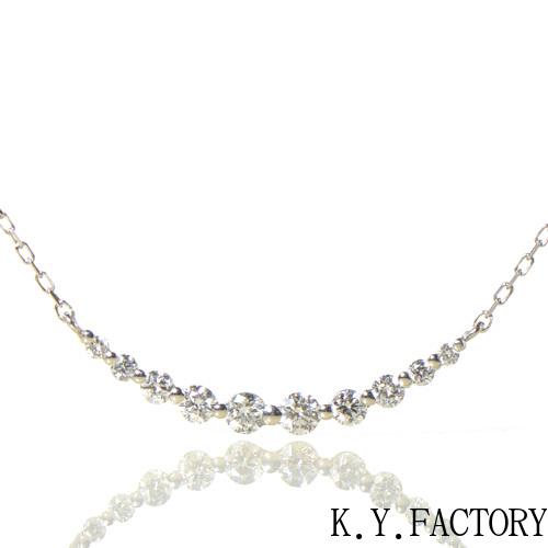 ダイヤモンド ネックレス ペンダント プラチナ900 850 YK-BG064CI(YP-031/SP4055) レディース ギフト ゴールド ペンダントPt レアストーン 希少石 ライン