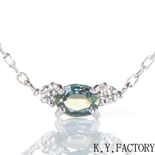 アレキサンドライト×ダイヤモンド ペンダント K18ホワイトゴールドトリア YK-BK084CI(YP-127) K18 WG 18金 ネックレス ペンダント レディース ゴールド 一粒 シンプル ギフト プレゼント 6月誕生石