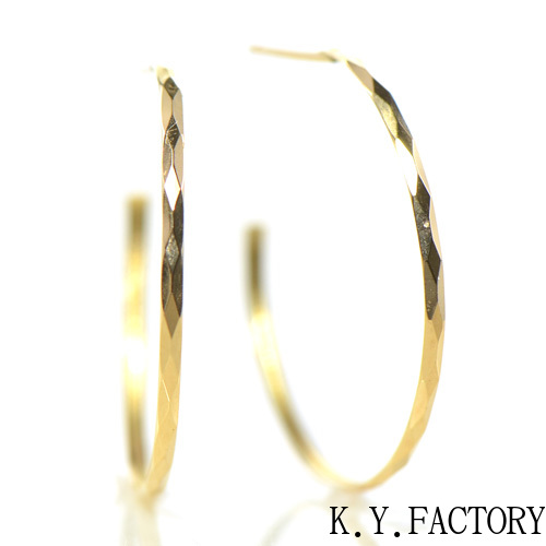 フープ ピアス K18イエローゴールド 直径:約23mm YK-BF100CI28 K18YG レディース ゴールド ネックレス ペンダントシンプル ギフト プレゼント