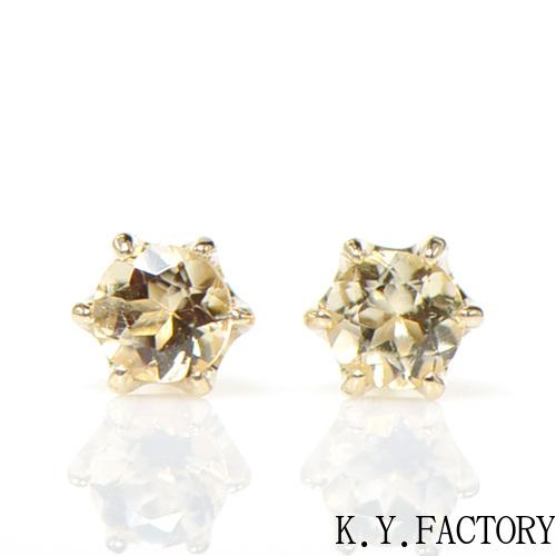 インペリアルトパーズ K10イエローゴールド ピアスYK-BK088CI28(YE-01) K10YG 11月誕生石レディース ギフト ゴールド 一粒 シンプル