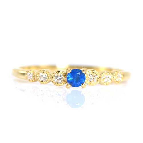 アウイナイト×ダイヤモンド リング K18イエローゴールドソルシエール BO035(YR-092) YK-BM035 K18 YG 18金 指輪 レディース ゴールド ギフト プレゼント
