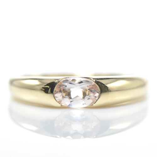 モルガナイト リング K10イエローゴールド指輪 レディース ギフト ゴールド 希少石YK-AZ056(YR-074)