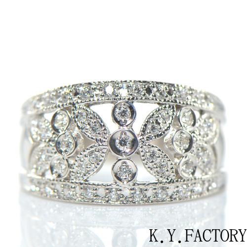 ダイヤモンド リング K18イエローゴールド ホワイトゴールド ピンクゴールドYK-AL036YKAM(YR-029)K18YG WG PG レディース ギフト ゴールド 4月誕生石
