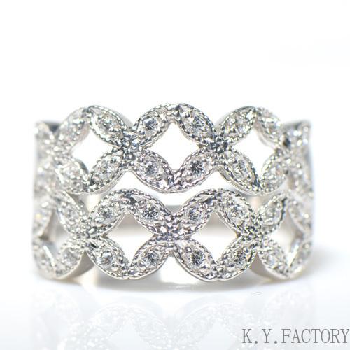 ダイヤモンド リング K18イエローゴールド ホワイトゴールド ピンクゴールド YK-AL040YKAM K18YG WG PG レディース ギフト ゴールド 4月誕生石(YR-028)