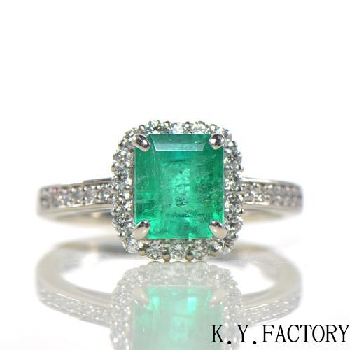 エメラルド×ダイヤモンド リング K18イエローゴールド ソーティングメモ付きYK-BB07618金 18k 指輪 ゴールド 5月誕生石 希少石 レアストーン  レディース